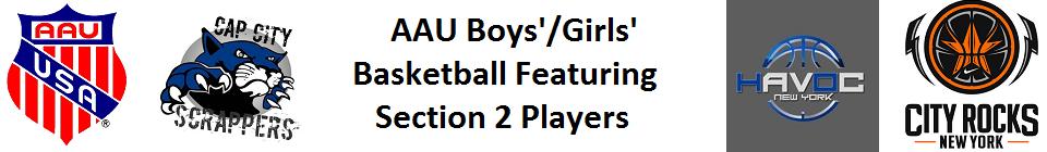 AAU Basketball w/Section 2 Basketball Players