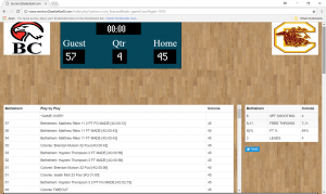 Live Scoring for Section 2 Basketball